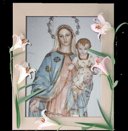 Madonna Rosario cornice
